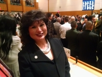 Rep. Doreen Gallegos attends the annual State of the State speech today on the opening day of the Legislature.