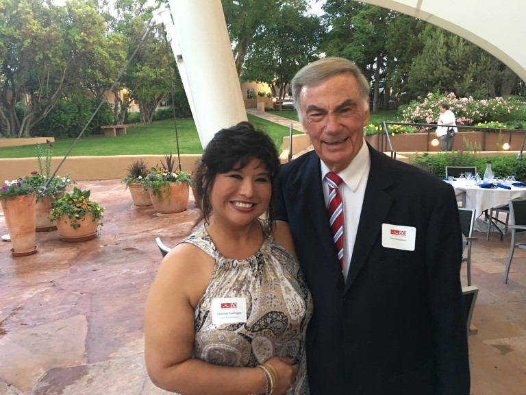 Representative Gallegos visits Sam Donaldson